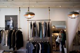 Inside view of a fashion shop in Berlin Mitte